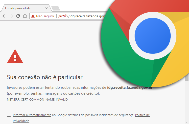 Erro de Certificado no Chrome
