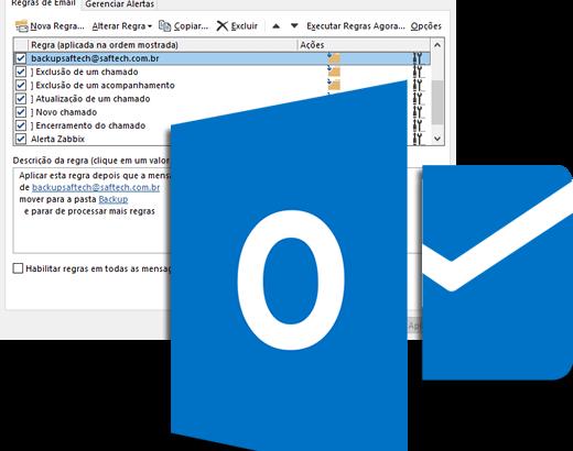 Regras do Outlook